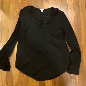 J. Crew poly button pullover S